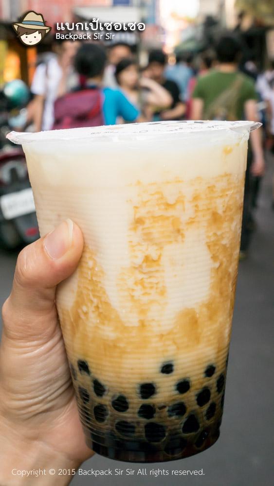 รีวิวนมไข่มุก ร้าน Chen San Ding Black Sugar Bubble Milk 陳三鼎黑糖青蛙鮮奶創始店 ไทเป ไต้หวัน Taipei Taiwan