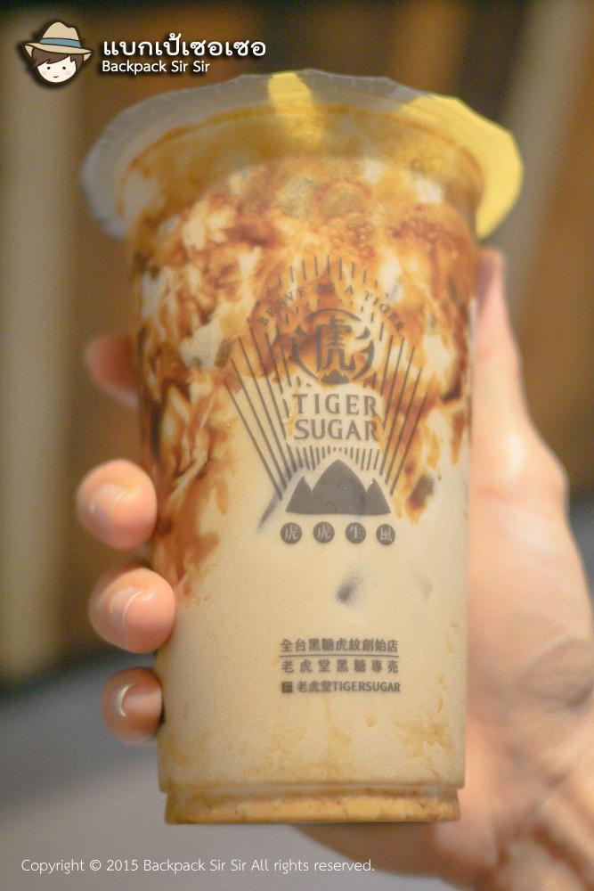 รีวิวชานมไข่มุก Brown Sugar Boba Milk ร้าน Tiger Sugar 老虎堂 ชาไข่มุกไต้หวัน Bubble Tea in Taipei