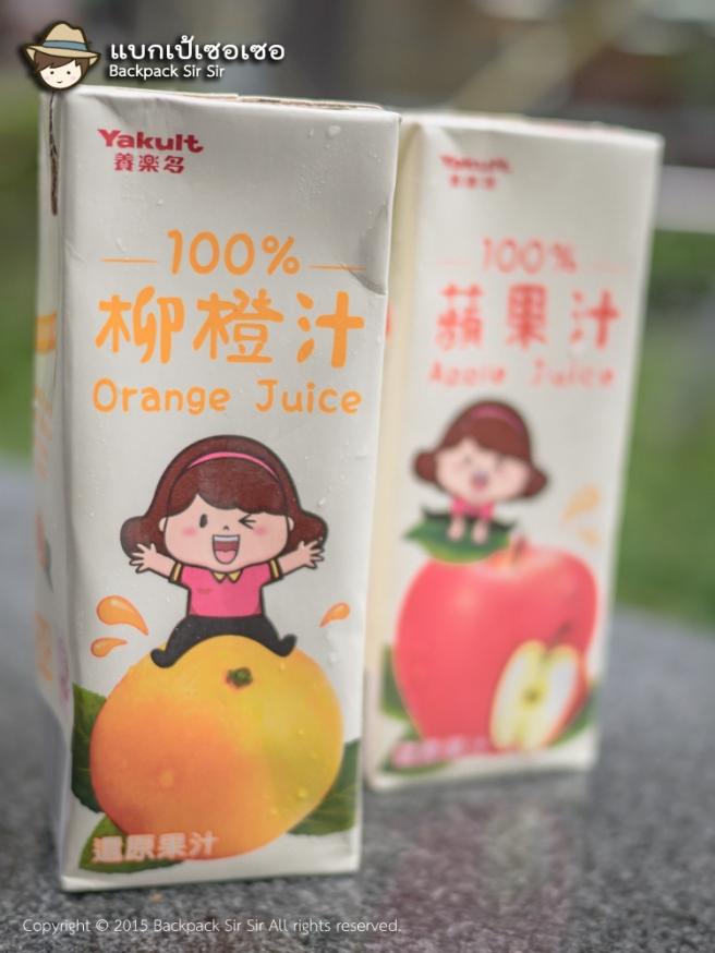 รีวิวน้ำผลไม้ ยาคูลท์ Yakult Apple Juice และ Yakult Orange Juice น้ำแอปเปิ้ล น้ำส้ม