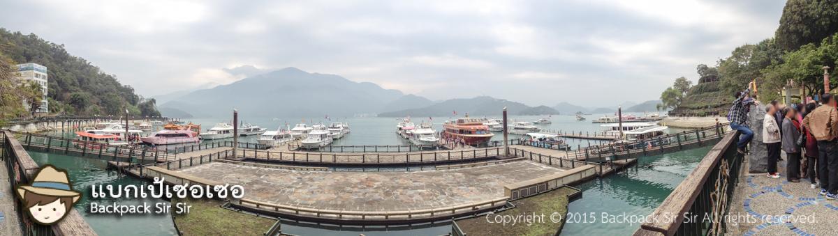 ล่องเรือทะเลสาบสุริยันจันทราไต้หวัน Sun Moon Lake Taiwan รีวิวไข่ต้มชาไต้หวันร้านอาม่า
