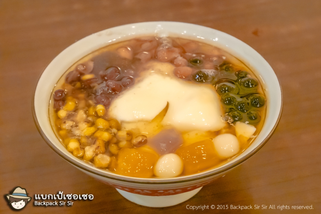เต้าฮวยทรงเครื่อง Dou Hua Tofu pudding