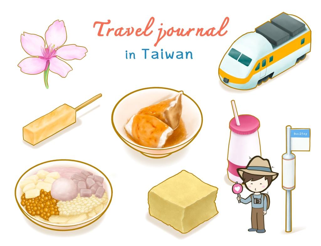 Taiwan travel journal digital printable stickers set IV